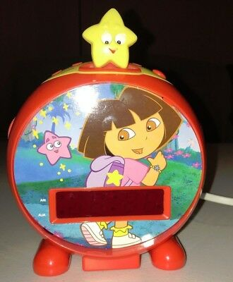 Clock Radio Dora the Explorer Red Digital AM/FM Radio Alarm Clock
