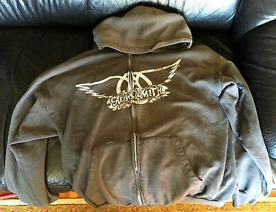 AEROSMITH 90's Swag Zip Up Hoodie Sweatshirt