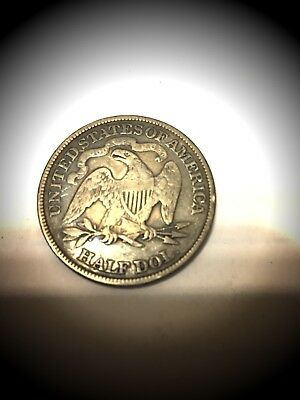 1876 US Seated Liberty Half Dollar .50c Cent Piece .900 Silver