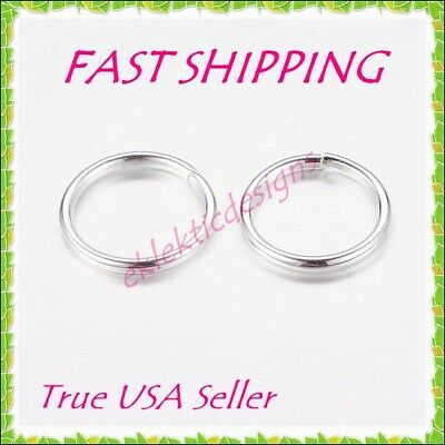 10mm 18gauge 100pc BRASS Silver Plated Open Jump Rings Findings Earring Necklace