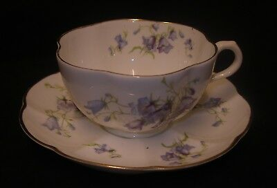 George Jones Crescent China Harebell Cup and Saucer