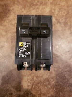 Square D HOM270CP Homeline Double Pole Circuit Breaker, 70 Amp, 2""