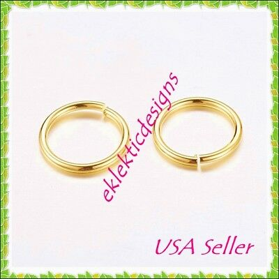 10mm 18gauge 100pcs BRASS Gold Plated Open Jump Rings Findings Earrings Necklace