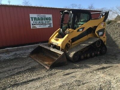 2010 Caterpillar 287C Compact Track Skid Steer Loader w/ Cab 2 Speed High Flow