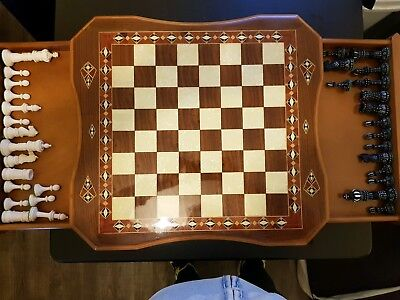 Stunning Helena Hand Crafted Chess Set AS NEW