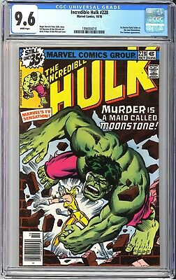 Incredible Hulk #228 (1978) Key 1st New Moonstone CGC 9.6 White Pages