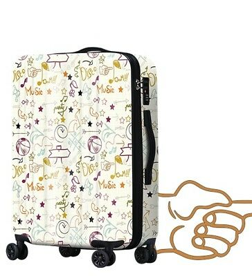D504 Lock Universal Wheel Arrows Pattern Travel Suitcase Luggage 24 Inches W