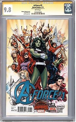 A-Force #1 CGC SS 9.8 signed Jorge Molina 1st SINGULARITY NM/MT