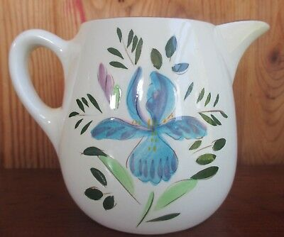 Antique 1940's STANGL POTTERY Country Garden LARGE 1 Qt. CREAMER PITCHER Iris