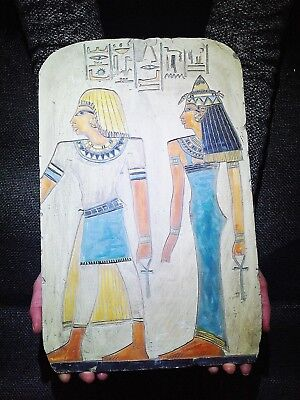 EGYPTIAN ANTIQUES ANTIQUITIES Princess Sedet And Nerb Stela Relief 4748-4556 BC