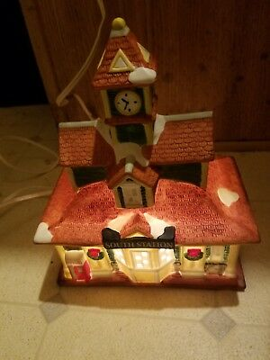 Coca Cola South Station Town Square Village House Building Lighted 1997 Holiday
