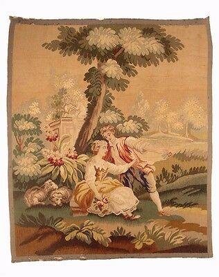 A Superb Pair of 19th Century French Aubusson Tapestry 1 of 2