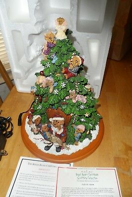 The Danbury Mint - The Boyds Bears Christmas Tree LIGHTED WITH COA