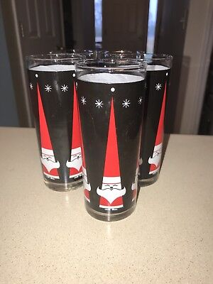 Vintage DQ Dairy Queen Santa Glasses Lot of 5 Howard Holt