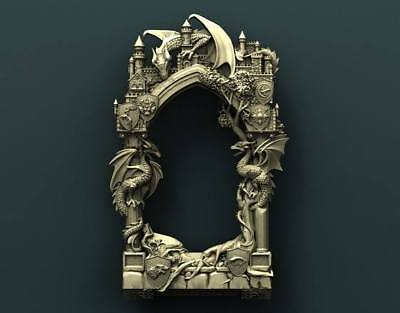 "3D STL Model Relief for CNC Router Aspire Artcam - ""GAME OF THRONES FRAME"""