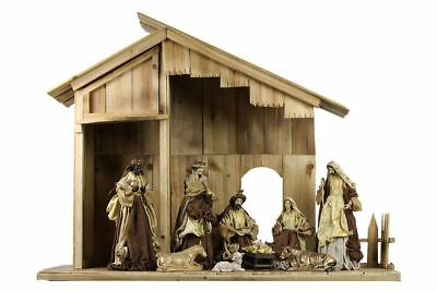 LIMITED STOCK: Nativity Scene Full Set With 100cm Tall Stable