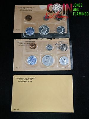Lot Of 3 U.s. Mint Proof Coin Sets Includes Silver Coins 1960, 1961, 1963 #11734