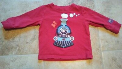 Lionel Trains Boy's Size 18 Month Red Long Sleeve Train T-Shirt.