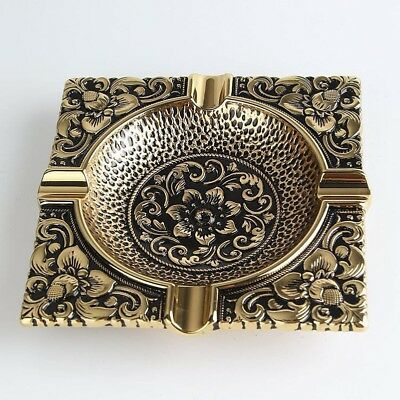 Chinese Vintage Metal Cigarette Ashtray Square Shape Home Decor Business Gifts