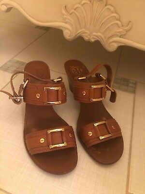 80a67f753 TORY BURCH USED Womens 9 M Miller Patent Leather Sandals Flip Flops ...