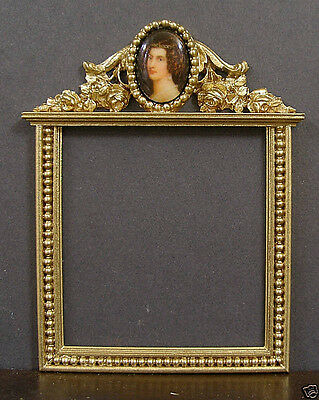 PICTURE  FRAME  ~ Vintage Cameo ~  Jim Coates ~ Dollhouse Miniature ~ 1:12 scale