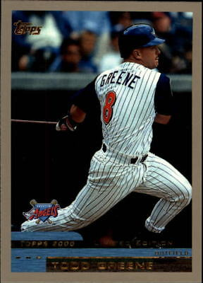 2000 Topps Limited Anaheim Angels Baseball Card #9 Todd Greene/4000