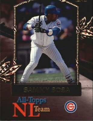 2000 Topps Limited All-Topps Chicago Cubs Baseball Card #AT9 Sammy Sosa/4000