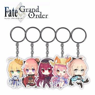 Anime Keychain Fate Grand Order FGO Figure Acrylic Key Ring Pendants Collection