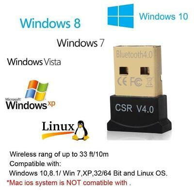 Mini USB Bluetooth CSR 4.0 3.0 Adapter Dongle Windows 7 8 10 PC Laptop US SELLER