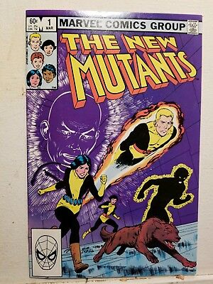New Mutants #1 (Mar 1983, Marvel) Signed by Chris Claremont and Stan Lee