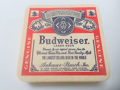 New, Old Stock Vintage Antique Budweiser Anheuser-Busch Coasters! LOT of 24! NOS