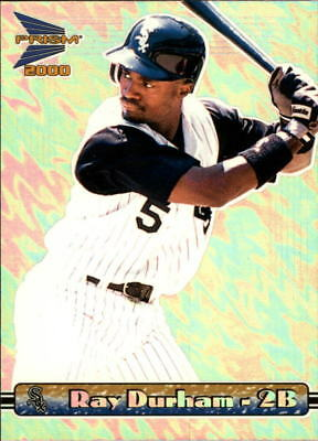 2000 Pacific Prism Sheen Silver White Sox Baseball Card #31 Ray Durham */565