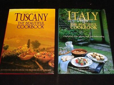 Lot of 2 The Beautiful Cookbook by Lorenza De' Medici:Tuscany & Italy Today, HCs