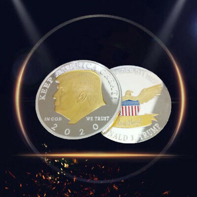 2020 KEEP AMERICA GREAT Silver&Gold US President Donald Trump Challenge Coin