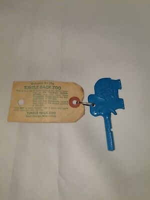 Vintage Zoo Key Elephant Red Trunkey With Tag Turtle Back New Jersey