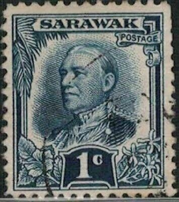 Lot 5173 - Sarawak 1932 - 1c blue Sir Charles Vyner Brooke used definitive stamp