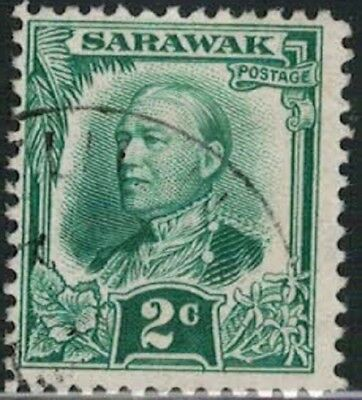 Lot 5174 - Sarawak 1932 2c green Sir Charles Vyner Brooke used definitive stamp
