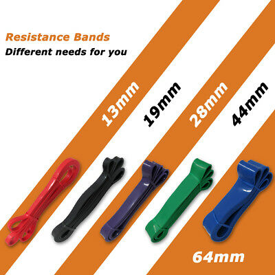 Power Resistance Rubber Band Strength Band Chin Up Pull Up Training Exercise Gym