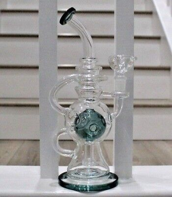 "Water Pipe  Glass Bong 12""  Smoking Pipe"