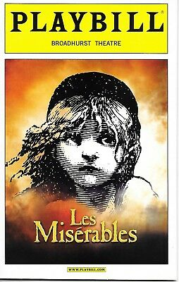 Les Miserables Broadway Playbill (2006) Opening Night Date