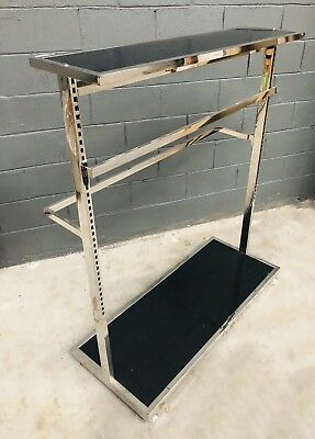 Retail Clothing Shop Display Rack Double Sided