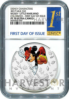 Disney Mickey Through The Ages - Little Whirlwind - Ngc Pf70 First Day Of Issue