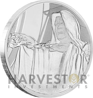 Star Wars Classics: Emperor Palpatine - 1 Oz. Silver Coin - With Ogp Coa - 13Th