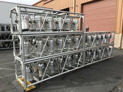 PRE RIG LIGHTING Truss by ITT Corp with Chrome par 64 cans  Thomas, Tomcat