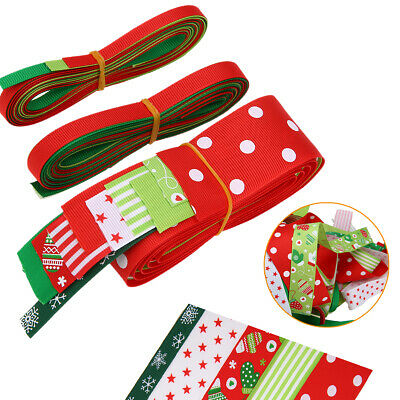 17x Christmas New Year Party Satin Grosgrain Ribbon Assorted DIY Sewing Craft