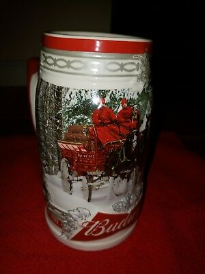 2017 Budweiser Holiday Stein Christmas Beer Mug 38th in Annual Series New