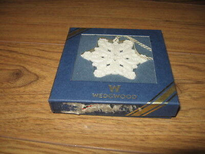 Wedgwood Snowflake boxed Ornament Christmas Holiday