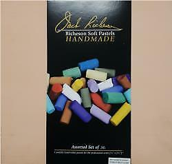 Jack Richeson - 36 Assorted Handmade Soft Pastels In A Wooden Box