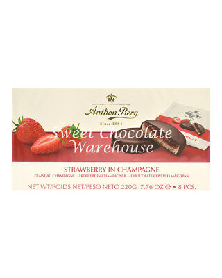 Anthon Berg Strawberry in Champagne Chocolate Covered Mazipan 220g