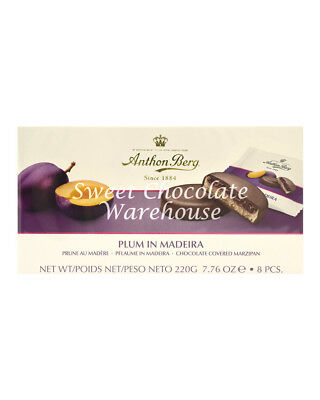 Anthon Berg Plum In Madeira Chocolate Covered Mazipan 220g